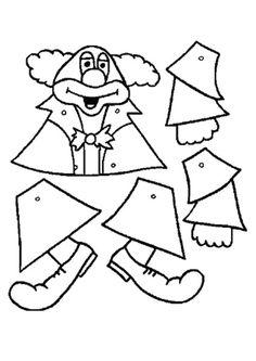 -un petit clown articulé réalisé par mon fils 7 ans.... - pour le réalisé voilà le gabarit clown de chez briconounou son site ici : link - au format A4