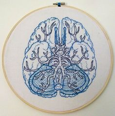 Anatomical Brain Embroidery | Flickr - Photo Sharing!