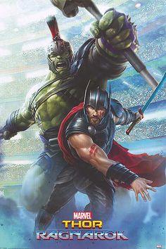 Thor and the Hulk original movie poster for Thor Ragnarok.