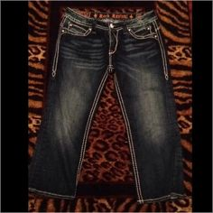 Rock Revival Denim Capri Worn once just don't for me right size 30 Rock Revival Capri -Johanna style from the buckle originally $160 Rock Revival Jeans Ankle & Cropped