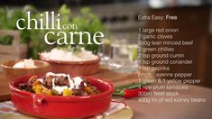 Slimming World Chilli Con Carne Recipe