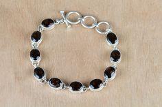 Silver Bracelets – Citrine Handmade 925 Silver Bracelet  – a unique product by ArtisanJewellery on DaWanda