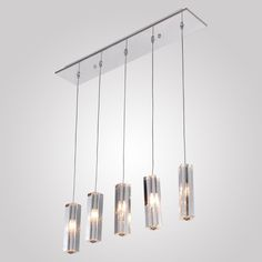 LightInTheBox® Stainless Steel 5-Light Mini Bar Pendant Light with K9 Crystal Drop, Amazon.com
