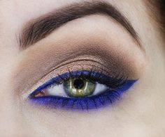 'Royal Blue' look by Candy Killer using Makeup Geek's Caitlin Rose, Grandstand, Magic Act, and Mesmerized foiled eyeshadows along with Electric gel liner.
