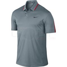 Nike TW Body Map Polo 648714 Dri-Fit Technology, 100% Polyester, Snap Placket Polos Shirts Mens Golf Apparel - $49