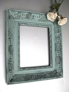 Egg Blue Shabby Chic Picture Frame. $44  http://www.etsy.com/listing/81388384/vintage-french-country-frame-duck-egg