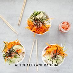 A vibrant and delicious breakfast, without the artificial additives of the store-bought kind! MAKES 7 CUPS Vegetarian, vegan, dairy free Raw Food Recipes, Cooking Recipes, Japanese Rice Bowl, Wine Coolers Drinks, Hainanese Chicken, Sushi Bowl, Rice Wine, Dried Apricots, No Cook Meals