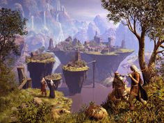 """Triwryd Towers"" by A. Simmons http://fantasyartdesign.com/free-wallpapers/digital-art.php?u_i=26_i=70"