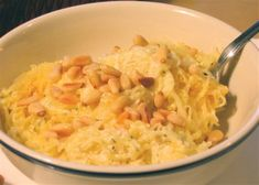 Spaghetti Squash With Ricotta, Sage, And Pine Nuts (about 200 calories a serving!)