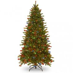 Artificial Christmas Tree Multi Color 500 Pre Lit Lights 7 FT Holiday Home Decor #National #DanAnnStore