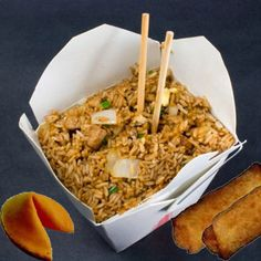 how to make a chinese food take out box