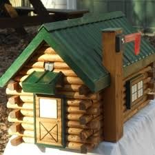 Beau Log Cabin Mailboxes   Google Search