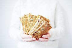 crackers haver Healthy Snacks, Healthy Recipes, Sugar Free, Breakfast Recipes, Oatmeal, Favorite Recipes, Lunch, Bread, Cookies