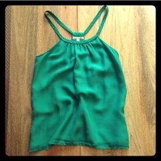 7 For All Mankind silk top Was a Host Pick winner (see attached image). Beautiful green color with a braided collar. Goes with anything! 7 for all Mankind Tops Blouses