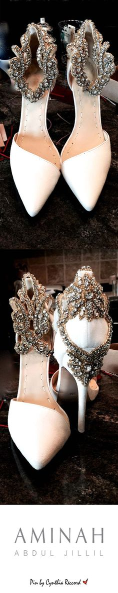Aminah Abdul Jillil | Handcrafted Crystal Embellishment with Gold Bead Accents