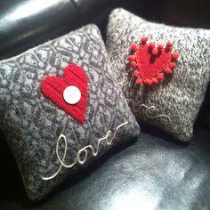 recycled sweater pillows #beehivebazaar | Use Instagram online! Websta is the Best Instagram Web Viewer!