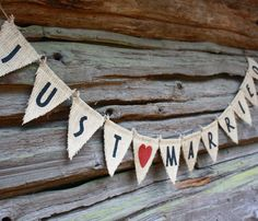 etsy-just-married-wedding-burlap-banner-sign