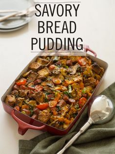 BREAD PUDDING - but so much more... SAVORY made with RED LOBSTER ...