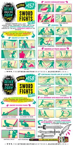 Here's a BRAND NEW TUTORIAL: How to THINK When You Draw SWORD FIGHTS! And join us on OUR TWITTER EVERY SUNDAY for #SkillUpSunday, and every Firday for #FridayFundamentals as we have TONS more FREE TUTORIALS,REFERENCE SETS and RESOURCES coming for...