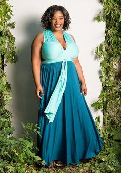 Plus Size Convertible Duo Maxi Dress