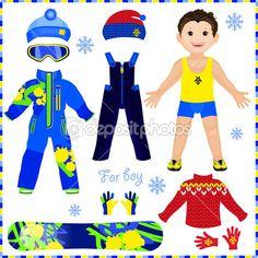Векторы, похожие на 47682547 Winter paper doll