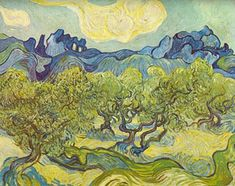 Vincent Van Gogh, Landscape with Olive Trees