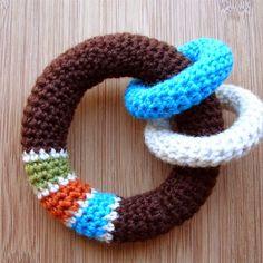 Crochet Pattern - LOOP Baby Toy