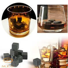 Whisky Ice Stones Wine Drinks Cooler Cubes Whiskey Rocks Granite Pouch NEW Granite Stone, Soapstone, Whiskey For Colds, Metallica, Cool Cube, Ice Stone, Wine Drinks, Beverage, Pouch
