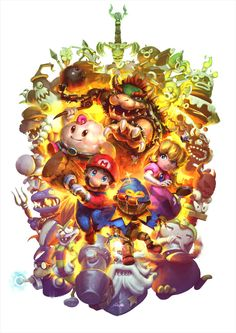 "it8bit: ""Super Mario RPG - SNES 25 Tribute Created by Cassio Yoshiyaki Also…"