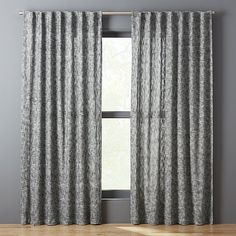 "Bensyn Tweed Curtain Panel 48""x84"" | CB2"