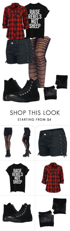 """""""Penny"""" by jubileex-girl on Polyvore featuring Leg Avenue, Full Tilt, Converse and Forever 21"""