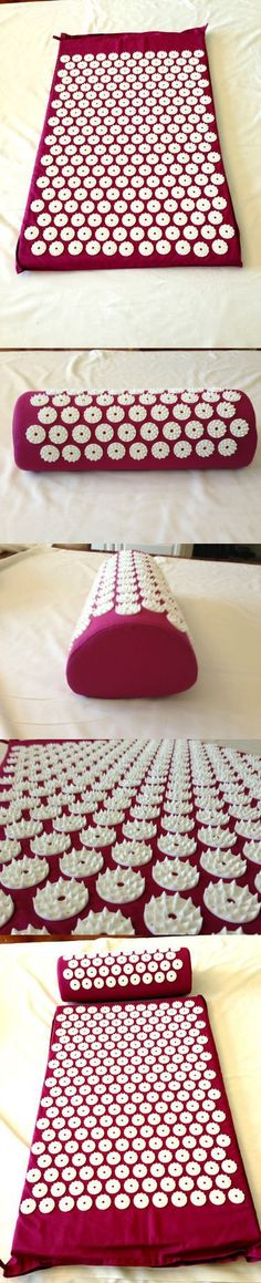 Purple Acupressure Mat & Acupressure Pillow Combo Yoga Mat - Relieve Stress & Pain 100% Soft Cotton Fabric, 8500+ Acupressure Points