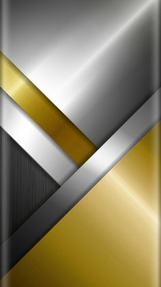 Chrome and Gold Abstract Wallpaper