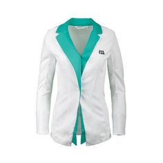 Complete the look! Tennis legend Marion Bartoli has created a beautiful line that includes the FILA Women's MB Blazer. Coordinates and will help you shine on the courts. Roll up cuffs with contrast color at lapel and cuffs. Wear from court to lunch in style.