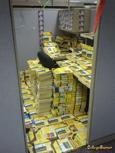 Phone Book Office Prank...    Maybe he'll think twice about enjoying a much-needed vacation with his family next time. Lazy bastard.