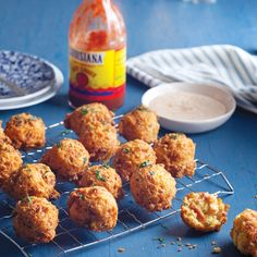 Save Recipe Print  Crawfish Hushpuppies         Makes about 24  Ingredients  6 slices bacon, chopped