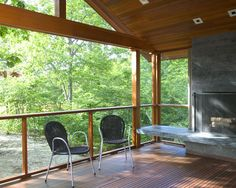 Porch Modern Porch Design, Pictures, Remodel, Decor and Ideas - page 13