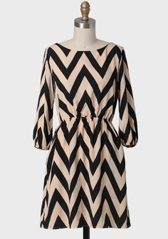 Long sleeve chevron dress