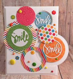 Card making and paper crafts Cd Diy, Diy Cards, Handmade Cards, Simon Says Stamp, Card Maker, Happy Smile, Card Kit, Creative Cards, Making Ideas