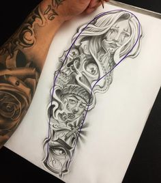 chicano sleeve tattoo designs – Tattoo Design Stock The Effective Pictures We Offer You About meaningful Tattoo A quality picture … Chicano Tattoos Sleeve, Chicano Style Tattoo, Arm Sleeve Tattoos, Sleeve Tattoos For Women, Women Sleeve, Dope Tattoos, Body Art Tattoos, Tribal Tattoos, Hand Tattoos