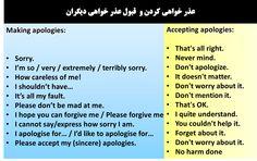 عذرخواهی، قبول عذرخواهی معذرت خواهی در زبان انگلیسی آموزش زبان انگلیسی در  تهران تقویت مکالمه انگلیسی آیلتس IELTS     تافل TOEFL     جی آر ای GRE     تلفن: ۰۹۱۹۴۲۳۱۹۵۴