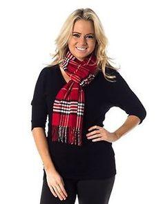NWT-Alkii-Plaid-Print-Womens-Premium-Plaid-Scarf-Soft-Cashmere-Fashion-RED