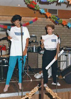 Afscheid Adri de Vries - zomer 1984 Eugenie Bürer en Mandy Savage