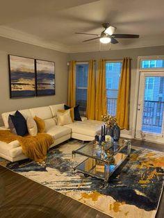 Decor Home Living Room, Glam Living Room, Cozy Living Rooms, New Living Room, Apartment Living, Living Room Designs, Apartment Ideas, First Apartment Decorating, Dream House Interior