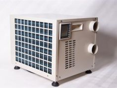 Climate Rite Air Conditioner - The model suits tiny houses, sheds, man caves, etc. due to its btu power btu) vs. the being Would this work for a root cellar/safe room? Tiny Trailers, Cargo Trailers, Camper Trailers, Tiny Camper, Trailer Plans, Air Conditioner Heater, Trailer Remodel, Teardrop Trailer, Camper Conversion
