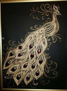 easy paintings Peacock is a beautiful bird belonging to the Phasianidae family. It includes three species of birds, namely: the Indian peacock; the Green peacock and the Congo peacock. Quilled Paper Art, Paper Quilling Designs, Quilling Paper Craft, Quilling Patterns, Peacock Painting, Peacock Art, Fabric Painting, Indian Peacock, Green Peacock