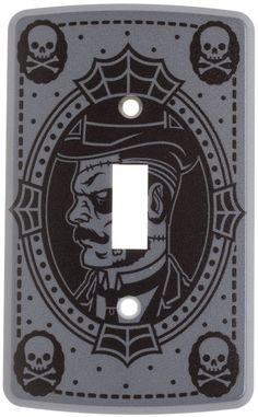 SOURPUSS GENTLEMEN ZOMBIE SWITCHPLATE Complete your curiosity corner with the Gentleman Zombie switchplate. The odd & unique will be pleased to see this Victorian-esque zombie gent! $8.00