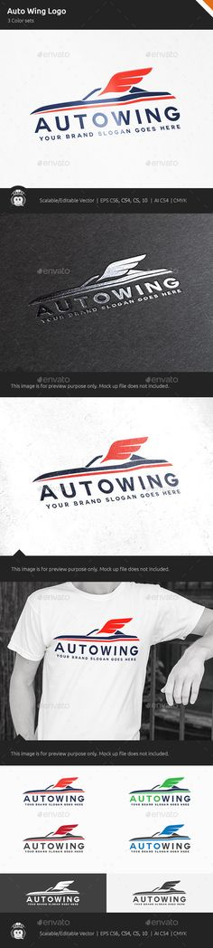 Auto Car Wing Logo — Vector EPS #garage #business • Available here → https://graphicriver.net/item/auto-car-wing-logo/10531966?ref=pxcr