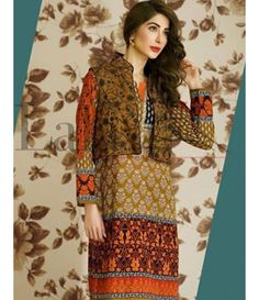Lala Brocade Embroidered Kurtis Collection 2016 BRK_07