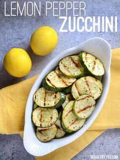 Lemon Pepper Zucchini - BudgetBytes.com
